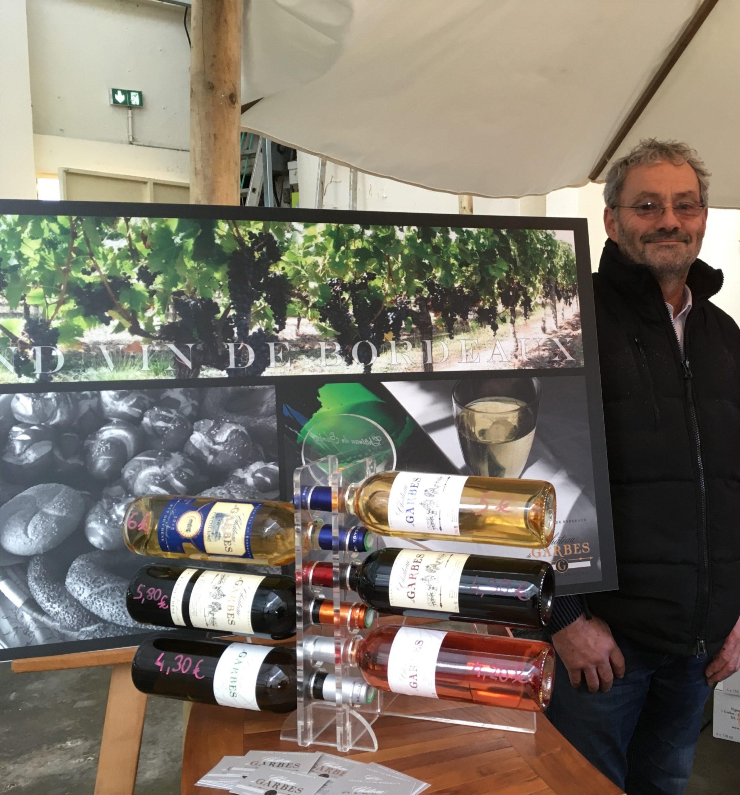 Jean-Luc DAVID au marché de Noël de la Crèche