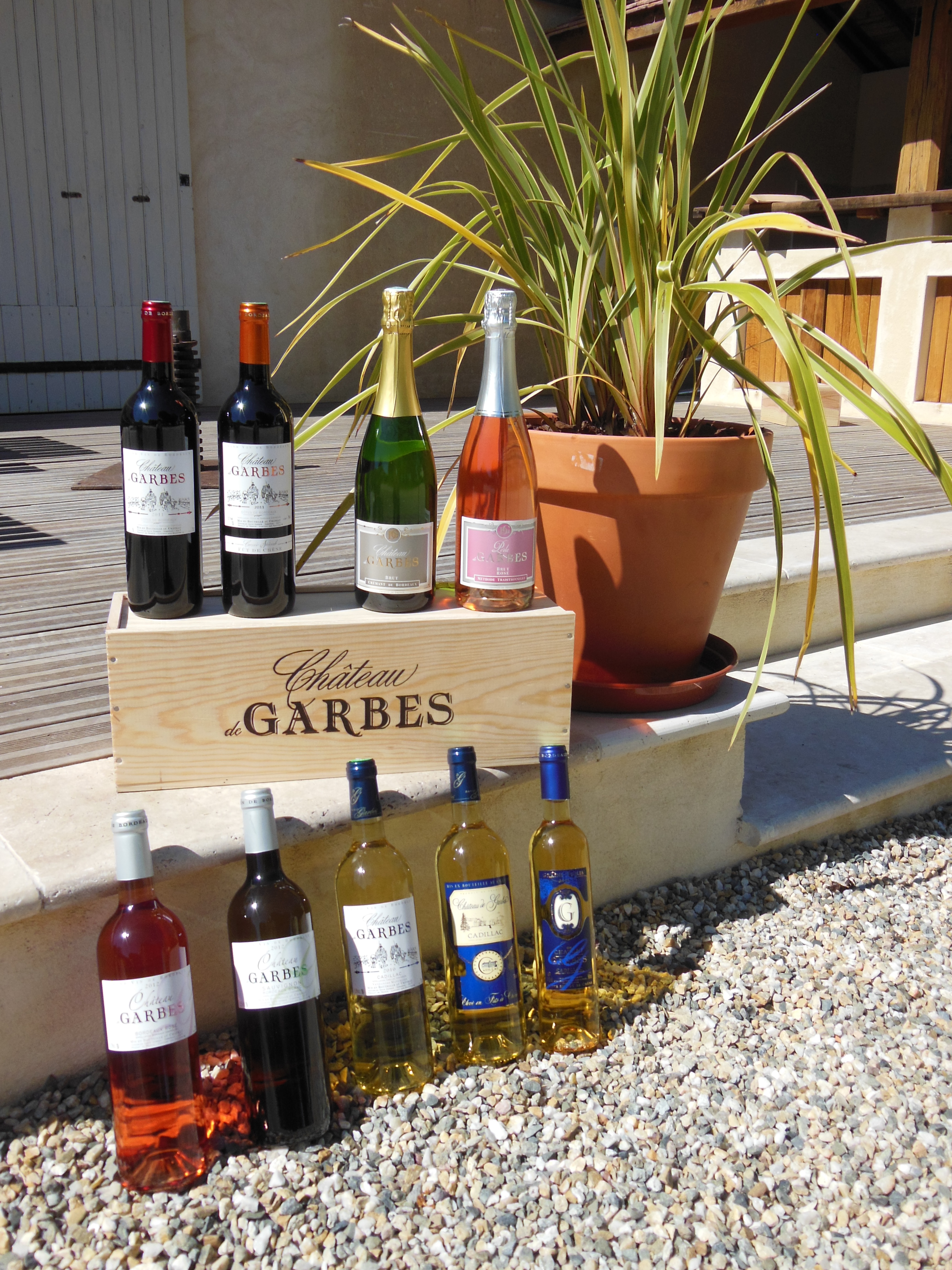 Gamme vin de bordeaux du château de Garbes