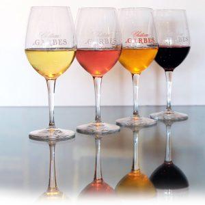 Les six verres sérigraphiés