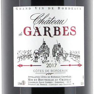 Côtes de Bordeaux rouge – Cuvée traditionnelle 2017  150cl